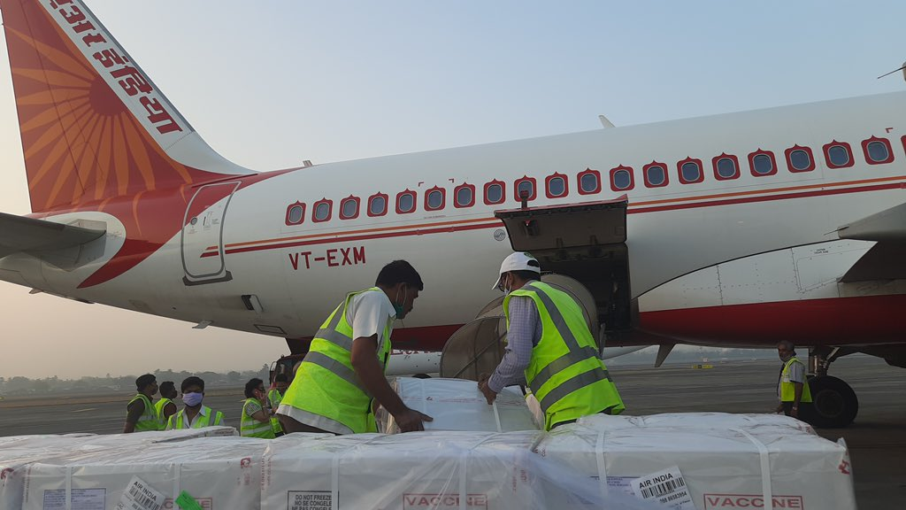Consignment of Indian made Covid vaccines takes off for Bangladesh!